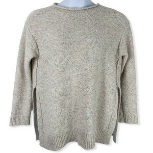 Lou & Gray Medium Sweater Speckled Off White